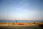 bus stop in the dead sea region