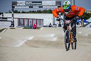 #236 during practice at the 2018 UCI BMX World Championships in Baku, Azerbaijan.