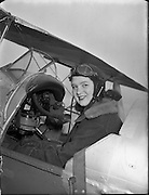 Weston Aerodrome, Leixlip, Co. Kildare.24/03/1954 Daughter of Captain Darby Kennedy Rosemary