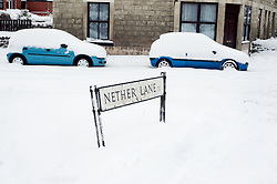 Nether Lane Ecclesfield Sheffield footpaths and roads are left almost invisible by the most widespread Snows to hit Britain for 20 years.1st December 2010.Images © Paul David Drabble