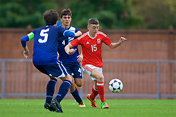 NEWPORT, WALES - Sunday, September 24, 2017: Wales' Callum King-Harmes during an Under-16 International friendly match between Wales and Gibraltar at the Newport Stadium. (Pic by David Rawcliffe/Propaganda)
