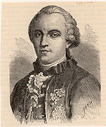 George-Louis Leclerc Buffon (1707-1778) French naturalist, author of 44 volume 'Histoire Naturelle'. He considered the earth to have been formed before 4004 BC. Engraving from 'A  Popular History of Science' by Robert Routledge (London, 1881).