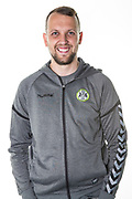Forest Green Rovers press officer Matt Edwards during the 2018/19 official team photocall for Forest Green Rovers at the New Lawn, Forest Green, United Kingdom on 30 July 2018. Picture by Shane Healey.