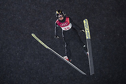 February 12, 2018 - Pyeongchang, SOUTH KOREA - 180212 Maren Lundby of Norway competes in Ski Jumping, Women's Normal Hill Individual Final, during day three of the 2018 Winter Olympics on February 12, 2018 in Pyeongchang..Photo: Joel Marklund / BILDBYRN / kod JM / 87619 (Credit Image: © Joel Marklund/Bildbyran via ZUMA Press)