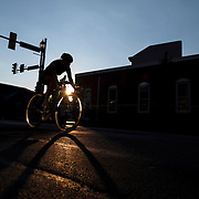 Cyclists compete in the Iron Hill Twilight Criterium in West Chester, Pa. USA. <br />