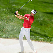 DUBLIN, OH - JUNE 03: PGA golfer Bubba Watson hits the ball out of the bunker during the Memorial Tournament - Third Round on June 3, 2017 at Muirfield Village Golf Club in Dublin, Ohio (Photo by Khris Hale/Icon Sportswire) (Photo by Khris Hale/Icon Sportswire)