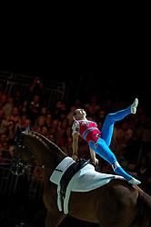 Simone Jaiser, (SUI), Luk, Rita Blieske - Individuals Women Technical Vaulting - Alltech FEI World Equestrian Games™ 2014 - Normandy, France.<br /> © Hippo Foto Team - Jon Stroud<br /> 04/09/2014