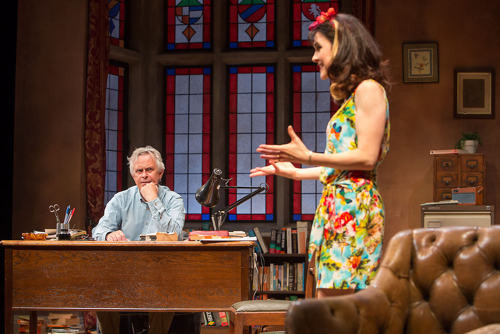 Cornerhouse and Library Theatre production of Educating Rita by Willy Russell, directed by Chris Honer. Cast: Philip Bretherton, Gillian Kearney. Presented at The Lowry, Quays Theatre.