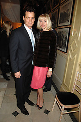 MATTHEW MELLON and NOELLE RENO at the engagement party of Vanessa Neumann and William Cash held at 16 Westbourne Terrace, London W2 on 15th April 2008.<br />