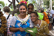 Polynesian woman, Takapoto, Tuamotu Islands, French Polynesia, (Editorial use only)<br />