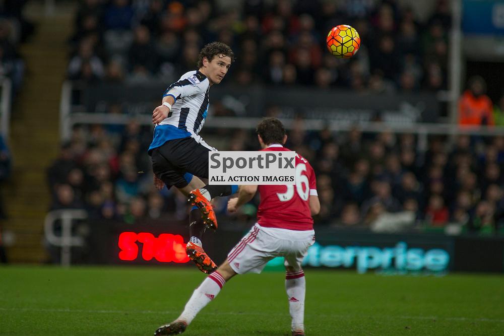 Newcastle v Manchester Utd 12 January 2016<br />Daryl Janmaat<br />(c) Russell G Sneddon / SportPix.org.uk