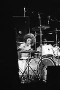 Drummer Tommy Aldridge of Pat Travers Band at work