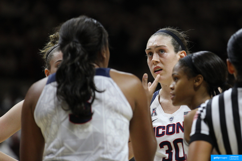 Breanna Stewart, UConn, during the Notre Dame Vs UConn Women's Basketball game at Grampel Pavilion, Storrs, Connecticut, USA. 5th December 2015. Photo Tim Clayton