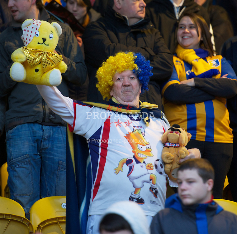 MANSFIELD, ENGLAND - Sunday, January 6, 2013: A Mansfield Town supporter before the FA Cup 3rd Round match against Liverpool at Field Mill. (Pic by David Rawcliffe/Propaganda)