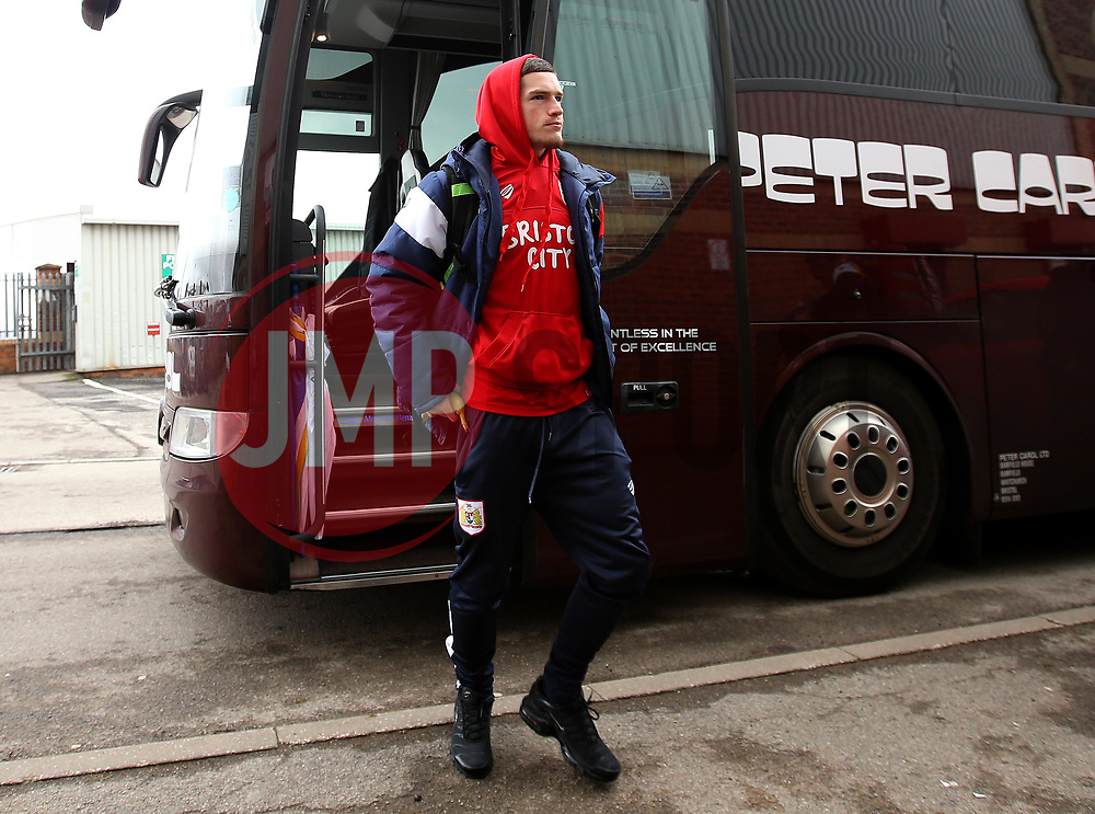 Ryan Kent of Bristol City arrives at Barnsley - Mandatory by-line: Robbie Stephenson/JMP - 30/03/2018 - FOOTBALL - Oakwell Stadium - Barnsley, England - Barnsley v Bristol City - Sky Bet Championship