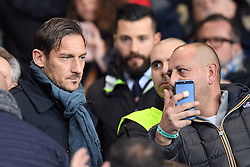 24.01.2018, Stadio Luigi Ferraris, Genua, ITA, Serie A, Sampdoria Genua vs AS Roma, 3. Runde, im Bild totti francesco // totti francesco during the Italian Serie A 3th round match between Sampdoria Genua and AS Roma at the Stadio Luigi Ferraris in Genua, Italy on 2018/01/24. EXPA Pictures © 2018, PhotoCredit: EXPA/ laPresse/ Tano Pecoraro<br /> <br /> *****ATTENTION - for AUT, SUI, CRO, SLO only*****