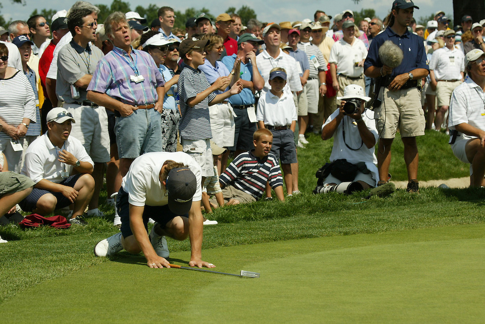 Nick Flanagan.2003 U.S. Amateur Championship.Semifinals.Oakmont Country Club.Oakmont, PA.Saturday, August 23, 2003.photograph by Darren Carroll
