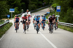 Demi Vollering (NED), Eider Merino (ESP) and Alena Amialiusik (BLR) lead the second group on the road during Stage 8 of 2019 Giro Rosa Iccrea, a 133.3 km road race from Vittorio Veneto to Maniago, Italy on July 12, 2019. Photo by Sean Robinson/velofocus.com