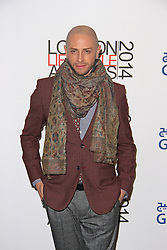 © Licensed to London News Pictures. 08/10/2014, UK. Brian Friedman, London Lifestyle Awards 2014, The Troxy, London UK, 08 October 2014. Photo credit : Brett D. Cove/Piqtured/LNP