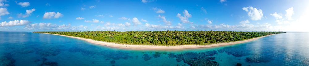 Arial of Uoleva island - Ha'apai, Kingdom of Tonga
