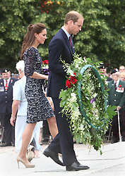 The Duke and Duchess of Cambridge  at the National War Memorial in Ottawa, Canada  on the first day of their tour of Canada , Thursday, June 30th 2011.  Photo by: Stephen Lock / i-Images