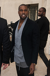 File photo dated October 2, 2012 of Kanye West attending the Chanel spring-summer 2013 collection held at the Grand Palais as part of the Paris Fashion Week in Paris, France. US rapper Kanye West took to Twitter over the weekend to announce he was running for president, with his declaration quickly going viral and prompting a flurry of speculation. His wife Kim Kardashian West and entrepreneur Elon Musk endorsed him. Photo by Nicolas Genin/ABACAPRESS.COM