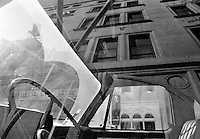 Car window reflection, Manhattan 1993