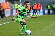 Forest Green Rovers Liam Shephard(2) during the EFL Sky Bet League 2 match between Exeter City and Forest Green Rovers at St James' Park, Exeter, England on 27 October 2018.