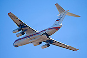 Russian Ilyushin Il-76TD fire fighting plane photographed in Israel December 2010