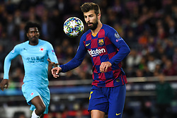 November 5, 2019, Barcelone, Espagne: FOOTBALL: FC Barcelona vs SK Slavia Praha Champions League.Gerard Pique. (Credit Image: © Panoramic via ZUMA Press)