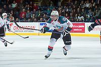 KELOWNA, CANADA - DECEMBER 17: Cole Linaker #26 of Kelowna Rockets skates against the Kamloops Blazerson December 27, 2014 at Prospera Place in Kelowna, British Columbia, Canada.  (Photo by Marissa Baecker/Shoot the Breeze)  *** Local Caption *** Cole Linaker;
