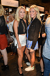 Left to right, TIFFANY WATSON and FRANKIE GAFF at the launch of the new Rituals store at 29 James Street, Covent Garden, London on 1st September 2016.