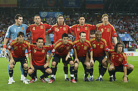 INNSBRUCK, AUSTRIA - JUNE 10: Once team of Spain. UEFA EURO 2008 Group D match between Spain and Russia at Stadion Tivoli Neu on June 10, 2008 in Innsbruck, Austria. (Photo by Manuel Queimadelos)