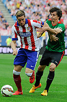 Atletico de Madrid´s Fernando Torres and Athletic Club´s Ander Iturraspe during 2014-15 La Liga match between Atletico de Madrid and Athletic Club at Vicente Calderon stadium in Madrid, Spain. May 02, 2015. (ALTERPHOTOS/Luis Fernandez)