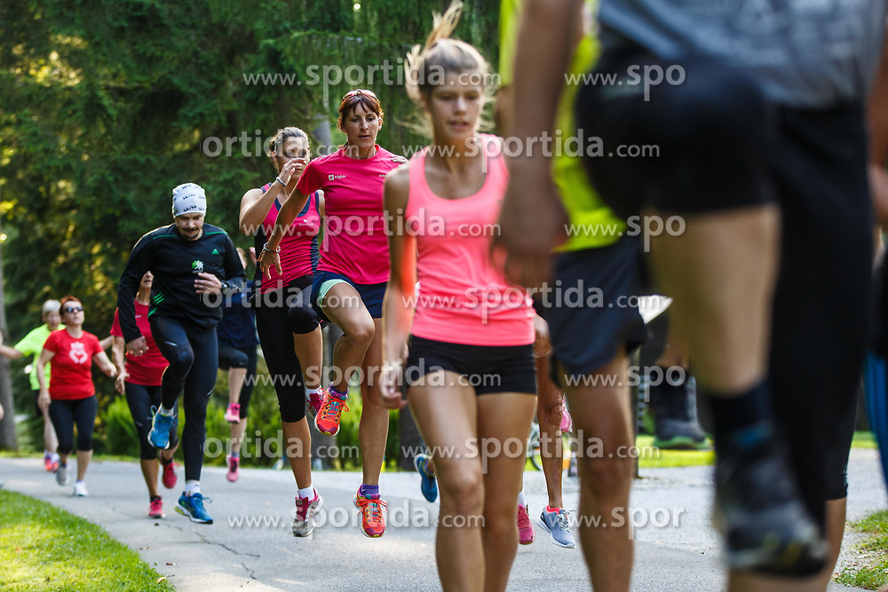 Practice and preparation for Triglav tek, running event, 22nd of August, 2017,  Park Brdo pri Kranju, Kranj, Slovenia. Photo by Grega Valancic/ Sportida