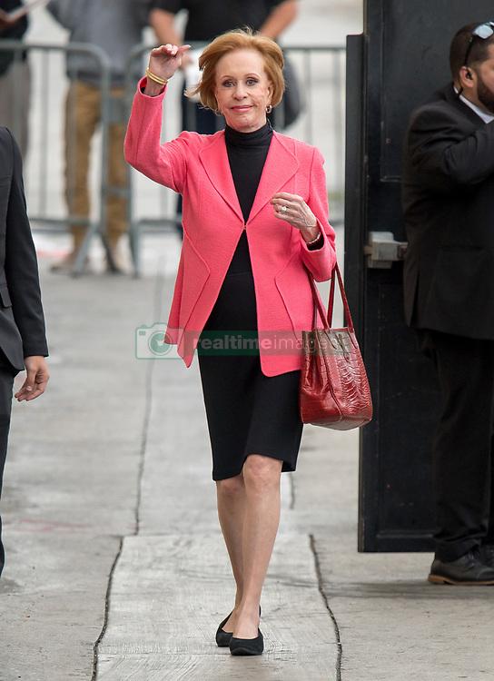 Carol Burnett is seen at 'Jimmy Kimmel Live' in Los Angeles, California. NON EXCLUSIVE April 30, 2018. 30 Apr 2018 Pictured: Carol Burnett. Photo credit: RB/Bauergriffin.com/MEGA TheMegaAgency.com +1 888 505 6342