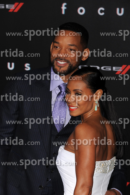 Will Smith, Jada Pinkett, Warner Bros Pictures presents the Los Angeles World Premiere of 'Focus', at the TCL Chinese Theatre, February 24, 2015 - Hollywood, California. EXPA Pictures &copy; 2015, PhotoCredit: EXPA/ Photoshot/ Celebrity Photo<br /> <br /> *****ATTENTION - for AUT, SLO, CRO, SRB, BIH, MAZ only*****