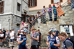 Tayler Wiles (USA) talks about her solo attack after Stage 3 of 2019 Giro Rosa Iccrea, a 104.7 km road race from Sagliano Micca to Piedicavallo, Italy on July 7, 2019. Photo by Sean Robinson/velofocus.com