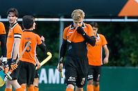 EINDHOVEN - hockey - Mink van der Weerden na het gelijkspel na  de hoofdklasse hockeywedstrijd tussen de mannen van Oranje-Zwart en Bloemendaal (3-3). COPYRIGHT KOEN SUYK