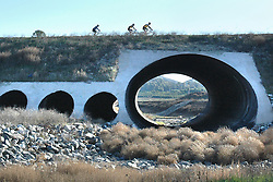 H:\EDITORIAL\Photos\02 February 09\JH 02-05-09  Bicyclists pass over the Sunset Valley Road drainage wash in Moorpark on Sunday, January 31.