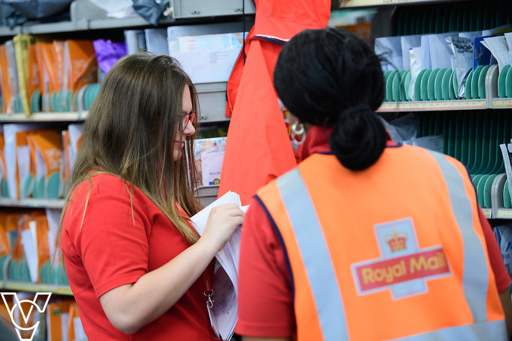 Royal Mail Rugby mail processing unit - stock photography.  Pictured is Steph Bird, left, with Jodyne Henry.<br /> <br /> Picture: Chris Vaughan Photography<br /> Date: June 6, 2017