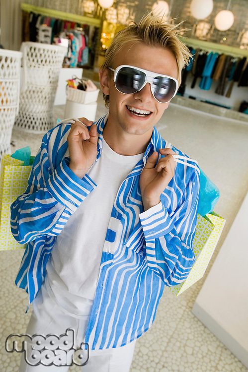 Man Shopping in Boutique