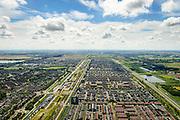 Nederland, Noord-Holland, Hoofddorp, 01-08-2016; overzicht van de wijken Overbos en Floriande (re), aan weerszijden van de IJtocht.<br /> Northwest Hoofddorp, overview.<br /> <br /> Overview Hoofddorp.<br /> luchtfoto (toeslag op standard tarieven);<br /> aerial photo (additional fee required);<br /> copyright foto/photo Siebe Swart