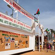 Entrance of the 22nd Salon International de l'Artisanat de Ouagadougou (SIAO) in Ouagadougou, Burkina Faso on Saturday November 1, 2008.