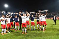 Joie PSG Champion - 16.05.2015 - Montpellier / Paris Saint Germain - 37eme journée de Ligue 1<br />Photo : Alexandre Dimou / Icon Sport