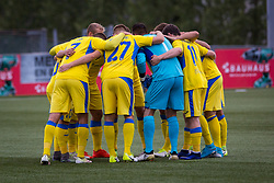 Players of NK Domzale during 1st Leg football match between FC Valur Reykjavik and NK Domzale in 2nd Qualifying Round of UEFA Europa League 2017/18, on July 13, 2017 in Reykjevik, Iceland. Photo by Ziga Zupan / Sportida