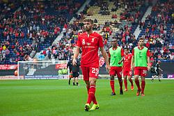 PRESTON, ENGLAND - Saturday, July 19, 2014: Liverpool's Fabio Borini before a preseason friendly match against Preston North End at Deepdale Stadium. (Pic by David Rawcliffe/Propaganda)