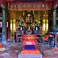 Main Hall Altar at Sofukuji Temple in Nagasaki, Japan <br />