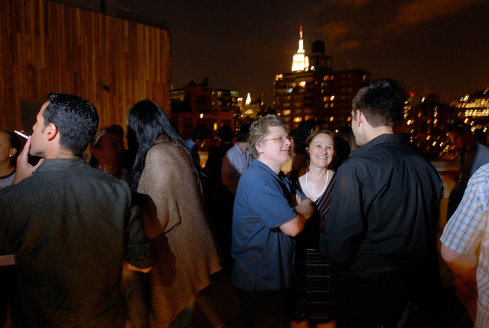 Cast and crew join producer Silvio Horta to celebrate another season of 'Ugly Betty' at a party at his home in Chelsea, New York..