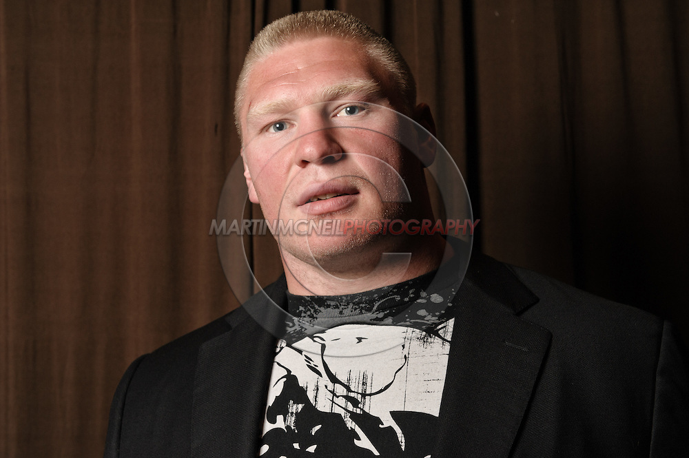 Portrait of mixed martial arts athlete and wrestler Brock Lesnar